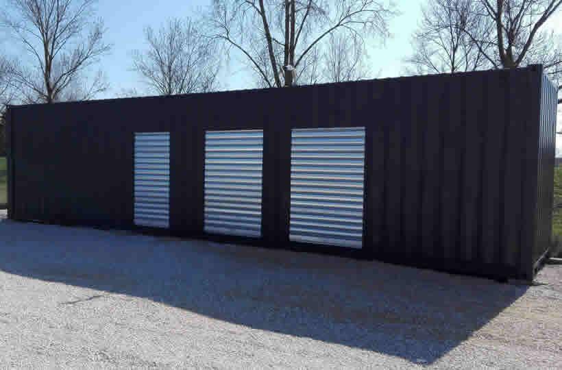 Container 40' avec rideaux métalliques pour du Self-Stockage