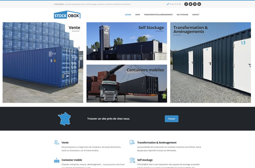 Nouveau site Stockobox