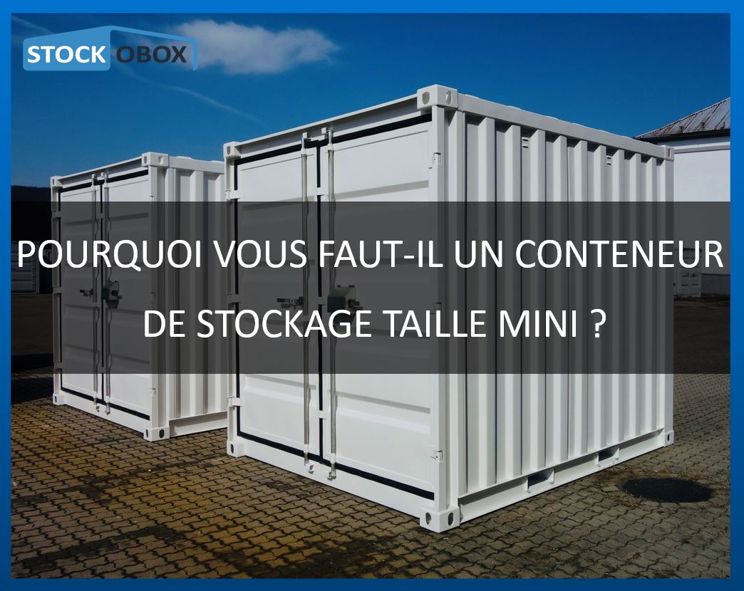 Pourquoi vous faut-il un conteneur de stockage TAILLE MINI ?